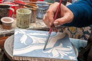 Artesão Pintor de Azulejo