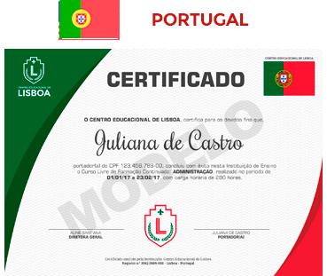 certificado Portugal
