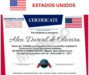 Certificado USA