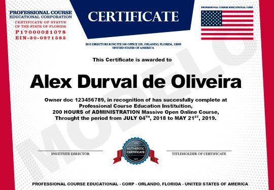 Certificado Estados Unidos